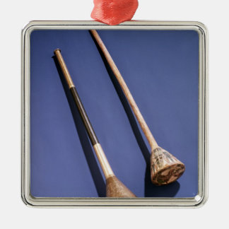Trumpet and wooden stopper christmas ornament