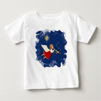 Trumpet Angel and Christmas Star T Shirt