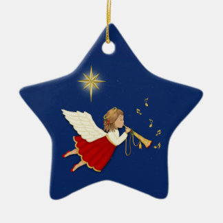 Trumpet Angel Christmas Ornament