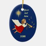Trumpet Angel Christmas Tree Ornament