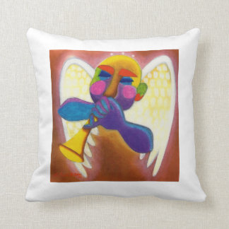 Trumpet Angel Throw Cushions