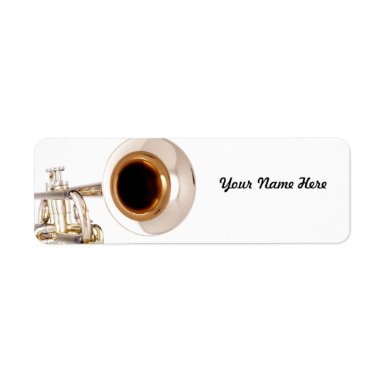 Trumpet Avery Label Return Address Label