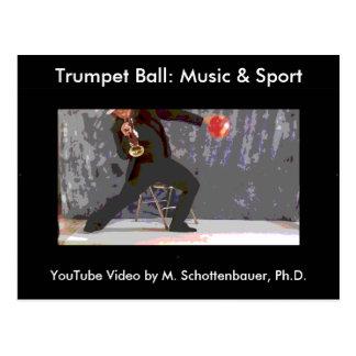 Trumpet Ball: Music & Sport Postcard 9