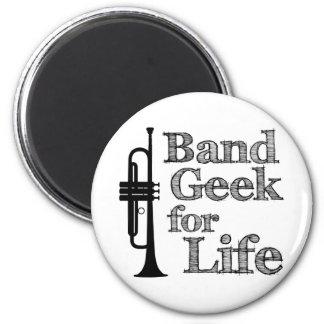 Trumpet Band Geek 6 Cm Round Magnet
