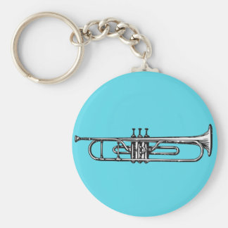 Trumpet Basic Round Button Key Ring