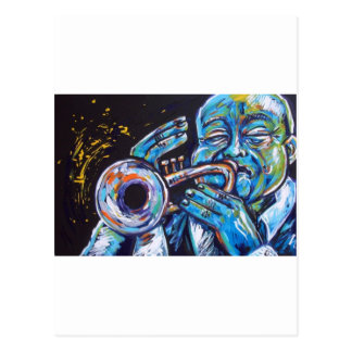 trumpet blues postcard