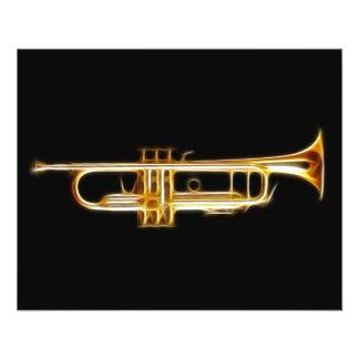 Trumpet Brass Horn Wind Musical Instrument 11.5 Cm X 14 Cm Flyer