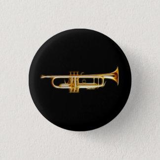 Trumpet Brass Horn Wind Musical Instrument 3 Cm Round Badge