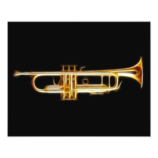 Trumpet Brass Horn Wind Musical Instrument Full Color Flyer
