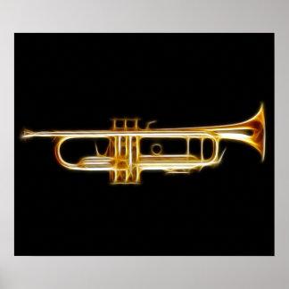 Trumpet Brass Horn Wind Musical Instrument Poster