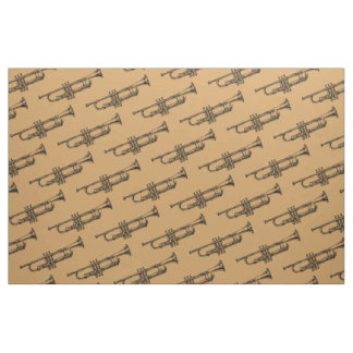 Trumpet brass musical instrument fabric