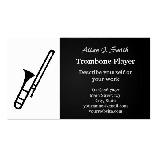 Trumpet cartoon business cards zazzle for Cartoon business cards