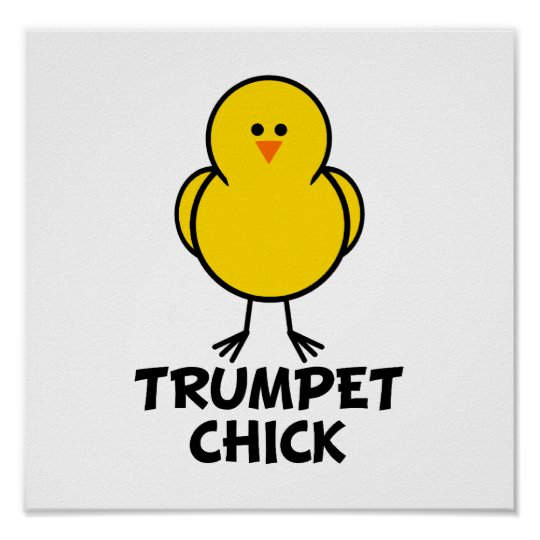 Trumpet Chick Poster