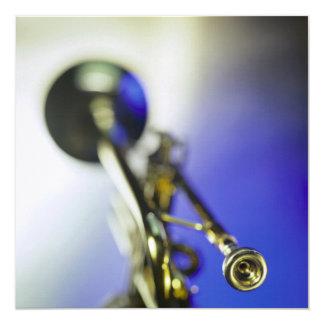 Trumpet Close-Up 13 Cm X 13 Cm Square Invitation Card