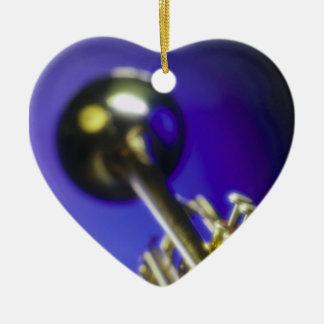 Trumpet Close-Up 2 Ceramic Heart Decoration