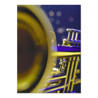 Trumpet Close-Up 3 11 Cm X 16 Cm Invitation Card