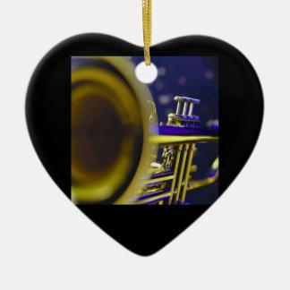 Trumpet Close-Up 3 Ceramic Heart Decoration