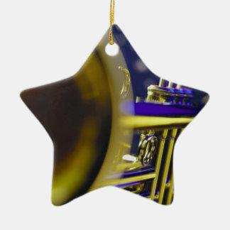 Trumpet Close-Up 3 Christmas Ornaments