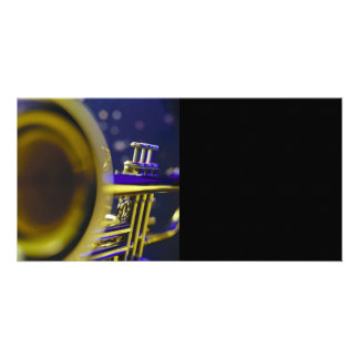 Trumpet Close-Up 3 Personalized Photo Card
