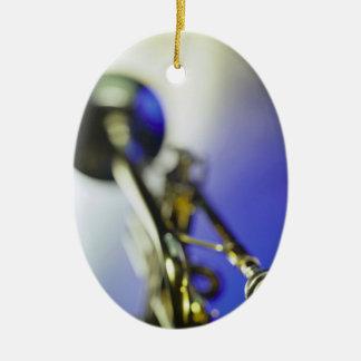 Trumpet Close-Up Ceramic Oval Decoration