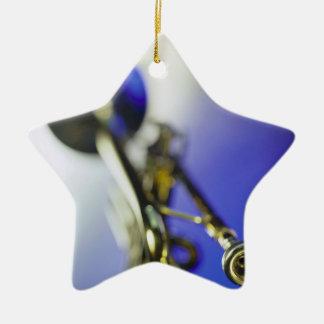 Trumpet Close-Up Ceramic Star Decoration
