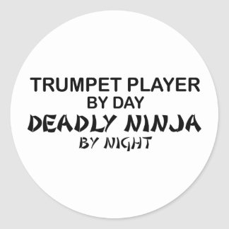 Trumpet Deadly Ninja by Night Classic Round Sticker