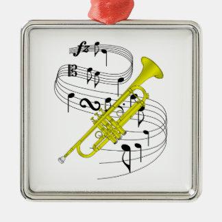 Trumpet Christmas Ornaments