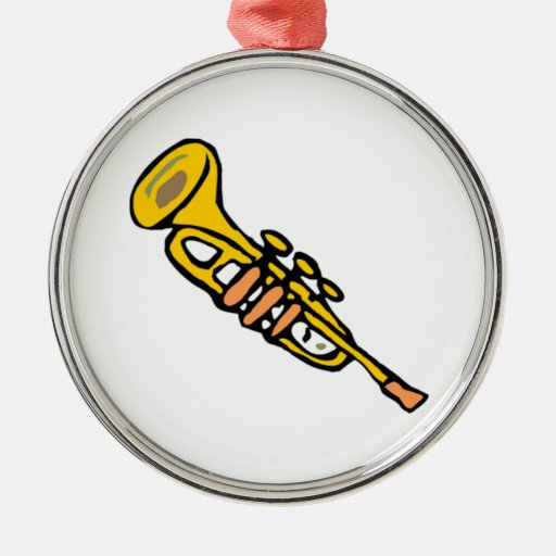 Trumpet Christmas Ornament