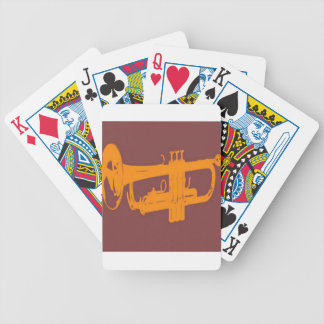 Trumpet design bicycle playing cards