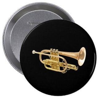 """Trumpet"" design gifts and products 10 Cm Round Badge"