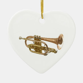 """Trumpet"" design gifts and products Ceramic Heart Decoration"