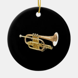"""""""Trumpet"""" design gifts and products Round Ceramic Decoration"""