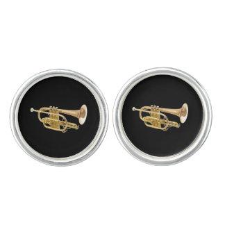 """Trumpet"" design jewelry set Cufflinks"