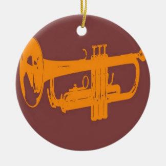 Trumpet design round ceramic decoration