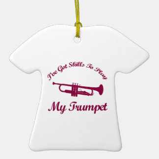 Trumpet designs christmas ornaments
