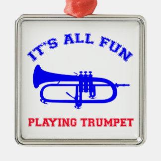Trumpet Designs Christmas Ornament