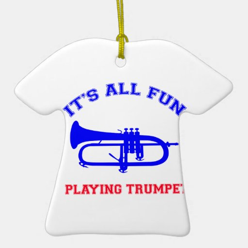 Trumpet Designs Christmas Ornament