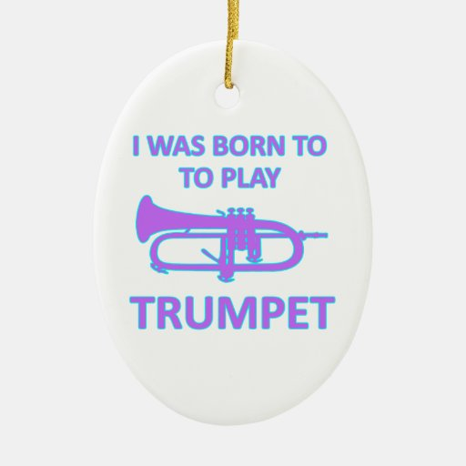 Trumpet Designs Christmas Ornaments