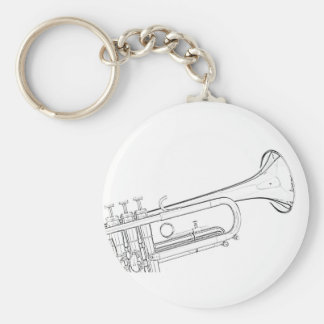Trumpet Drawing Keychain