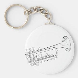 Trumpet Drawing Keychain