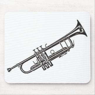 "Trumpet ""Drawing"" Mouse Mat"
