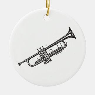 "Trumpet ""Drawing"" Round Ceramic Decoration"