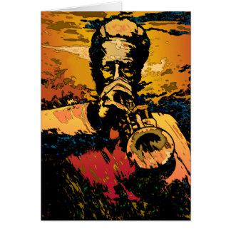 Trumpet Fire Card
