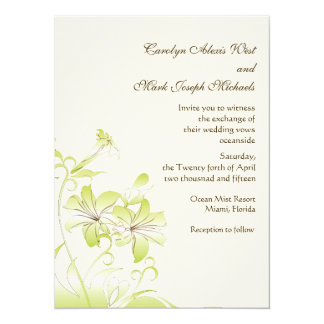 "Trumpet Flower Invitation 5.5"" X 7.5"" Invitation Card"