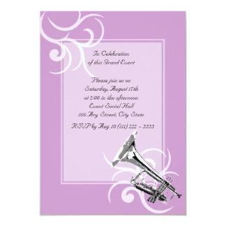 Trumpet Full Color 5x7 Paper Invitation Card