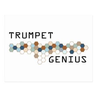 Trumpet Genius Postcard