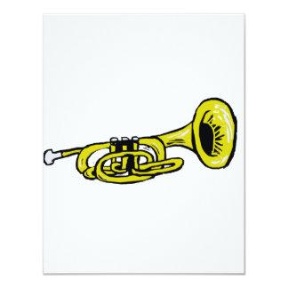 Trumpet Graphic Squiggly Custom Invite