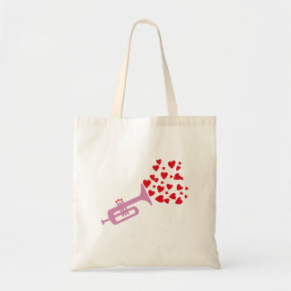Trumpet Hearts Tote Bags