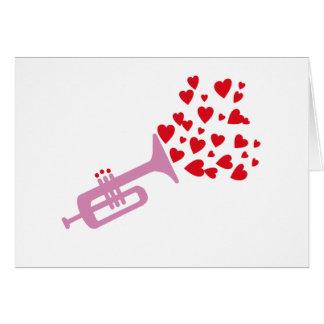 Trumpet Hearts Card