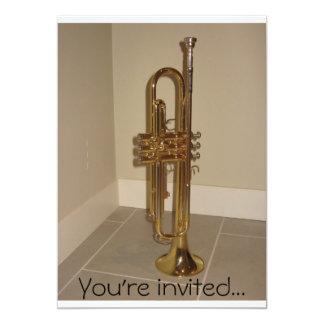 "Trumpet invitation 5"" x 7"" invitation card"